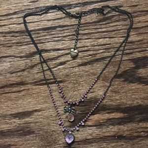 Authentic Betsy Johnson double chain necklace